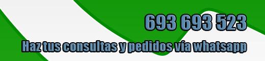 Haz tus consultas y pedidos vía whatsapp - 693 693 523